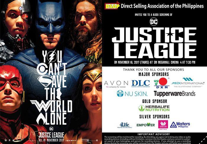Justice League Movie Block Screening
