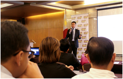First guest speaker was Security Bank AVP and economist, Mr. Angelo Taningco