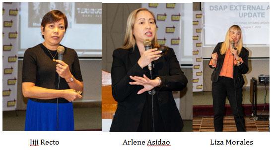 Jiji Recto, Arlene Asidao, Liza Morales