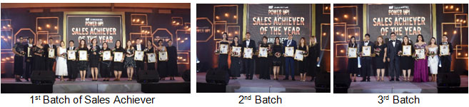 1st Batch of Sales Achiever, 2nd Batch and 3rd Batch